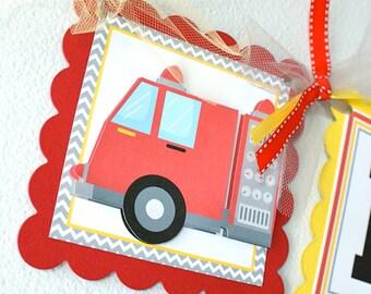 Sound the Alarm Fire Truck, Birthday Banner