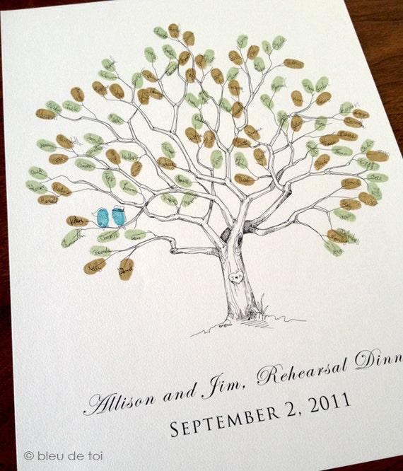 Wedding Guest Book Alternative, Fingerprint tree, Small Great Oak Tree, Original Wedding Guest Book, thumbprint tree, Rustic Wedding