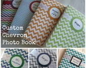 CUSTOM You Pick Chevron Print 4x6 Photo Brag Book
