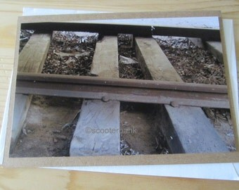 Train Tracks Blank Greeting Card Photography