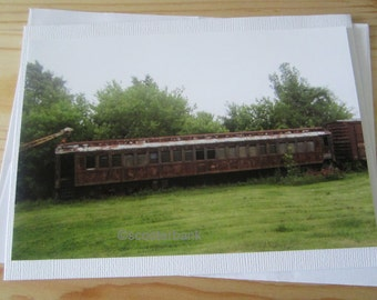 Side-Tracked II Blank Greeting Card Photography