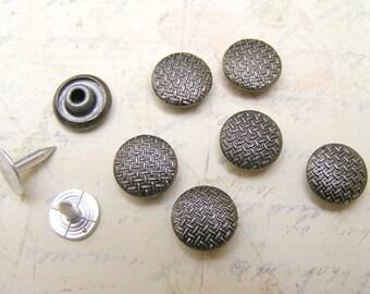 20 sets 11mm weave pattern Rivet Rapid Stud for bag purse jacket jean craft project