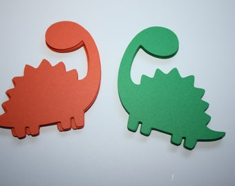 18 x Stegosauras Dinosaur Die Cuts - Choose your own Colors!