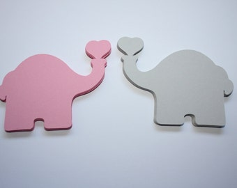 18 x Elephant Die Cuts - Choose your Own Colors!