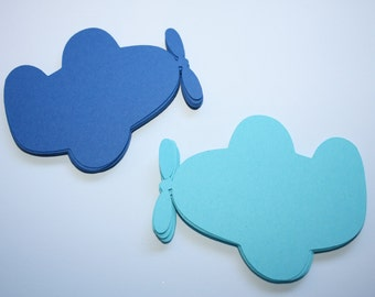 18 x Airplane Die Cuts - Choose your Colors!