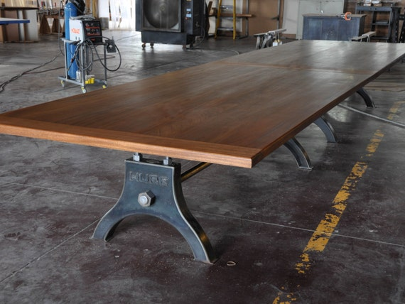 Vintage Industrial HURE Conference Table By