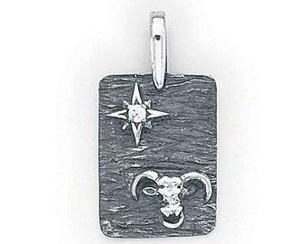 Taurus  Zodiac Pendant  Sterling Silver  505-2