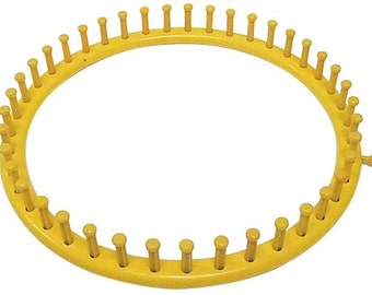 Knifty Knitter Loom - Extra large yellow round knitting loom