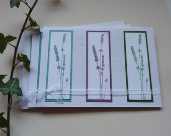 GREETINGS CARDS , large, blank ,(pack of 4) ' Sea Grass Trio'. .ready to ship.....