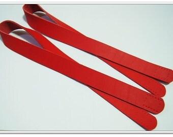 2pcs red high quality cow leather purse handles purse straps,bag handle,bag strap,handbag handle,handbag strap