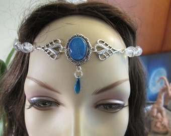 Quartz Circlet of the Ice Priestess Elven Celtic Druid LARP Bridal Renaissance Cosplay