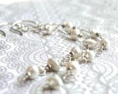 Freshwater Pearl Earrings Statement Earrings, Pearl Earrings, Jewelry, Bridal Jewelry,Dangle Earrings, Bridal Earrings, Wedding, Accessories