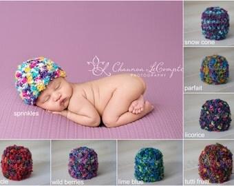 Newborn Confetti Baby Beanie Hats - You Choose Color