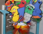 Sesame Street Character Party Bucket/ Centerpiece Big Bird, Elmo, Cookie Monster, Oscar the Grouch, Ernie
