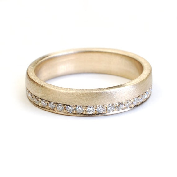 Simplistic Bands: Wedding Band Eternity Band Gold And Diamond Wedding Band