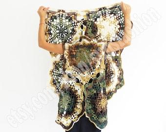 autumn cardigan fall fashion crochet coverup Handmade CARDIGAN COAT  autumn colors autumn leaves brown beige green  vest oversized knit