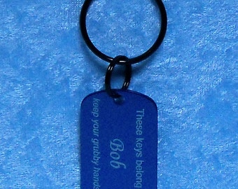 Key Tag, anodized aluminum, military style, FREE custom engraving
