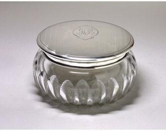 Vintage Sterling Silver Lid Powder Jar (LARGE) - Circa early 1900's