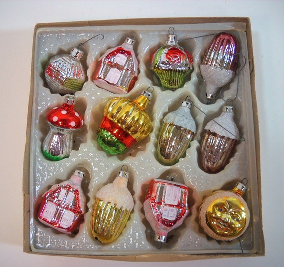 Vintage Christmas Ornaments European Glass Ornaments Made In
