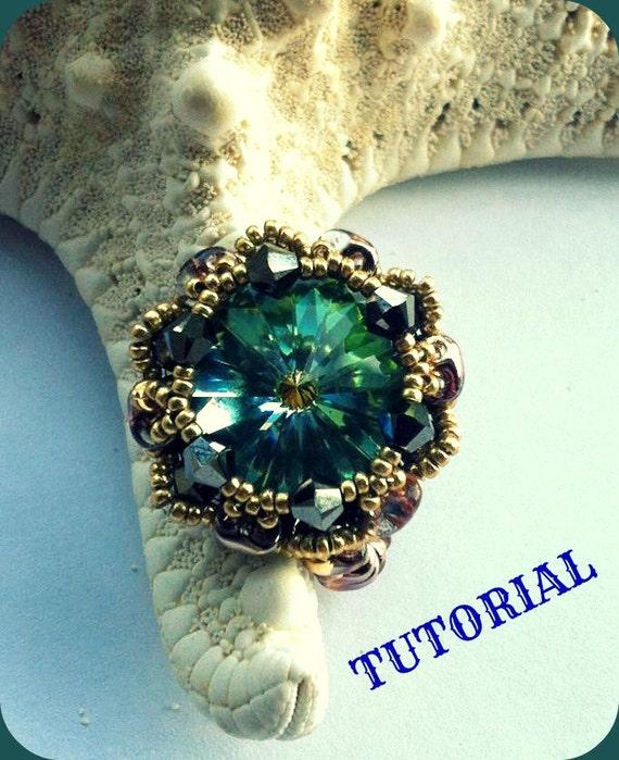 Conosciuto Schema anello con cristalli swarovski e perline come creare SV31