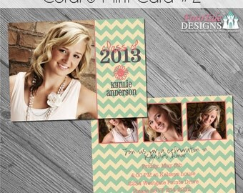 INSTANT DOWNLOAD - Coral and Mint Grad Ann 2- custom photo templates for photographers on WHCC and ProDigitalPhotos Specs