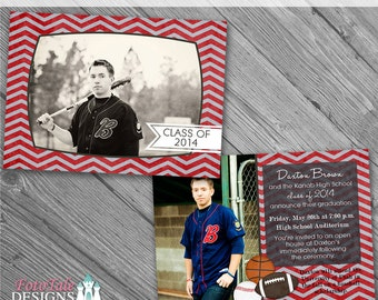 It's a Guy Thing Graduation Announcement No. 3- photo templates on WHCC, Miller's Lab and ProDigitalPhotos Specs