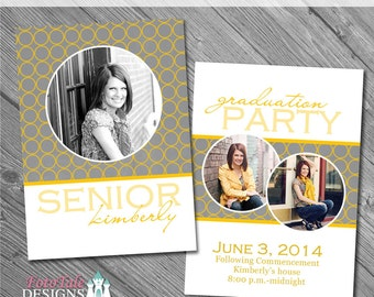 Varsity Graduation Announcement No. 2- custom photo templates for photographers on WHCC, Miller's Lab and ProDigitalPhotos Specs