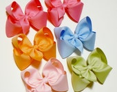 Girls Hair Bow Set Medium Girls Hair Bows Kids Hair Bows Hair Clip Hairbows Hair accessories for Kids (Set of 6)