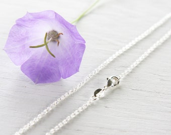 30 inch Long Fine 925 Sterling Silver Chain Necklace Thin Link Chain Cable Oval Finished Necklace for Pendant Ready to Wear Gift for her