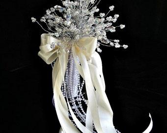 crystal Brides Maids Wedding Brooch  Crystal bouquet,  bridal  wedding bouquet,,bridesmaid bouquet, wedding  crystal Bouqet