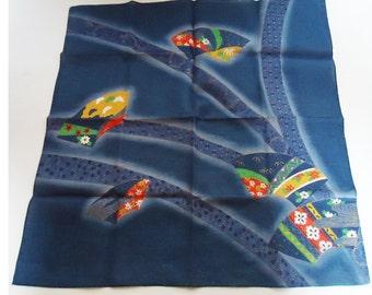 Vintage Japanese Handkerchief. Beautiful Design