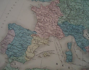 Fantastic Authentic 1881 French Maps.n5.Europe