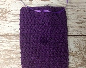 "8"" Crochet Tutu Tube Top - Eggplant"
