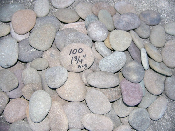 100 small flat river rocks writing painting home decor stones