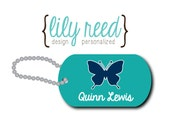 Butterfly Bag Tag - Butterfly Luggage Tag - Personalized Bag Tag - Lunch Box Tag - Custom Tag - Zipper Pull - Mini Tag - Design Your Own