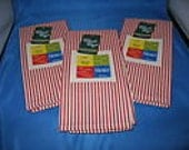 Lot of 3 Charles Craft Red Stripe Towels to Stitch, Stamp or Whatever