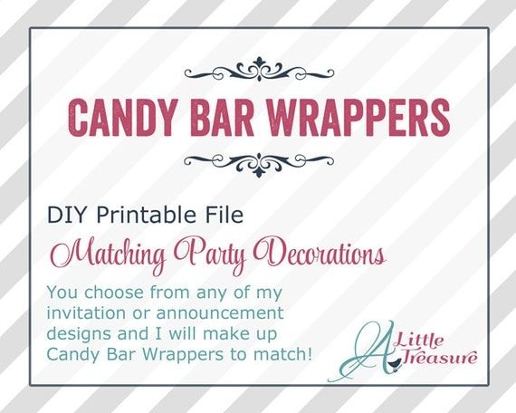 candy bar wrappers template for baby shower printable free - chocolate bar wrappers diy printable baby by alittletreasure