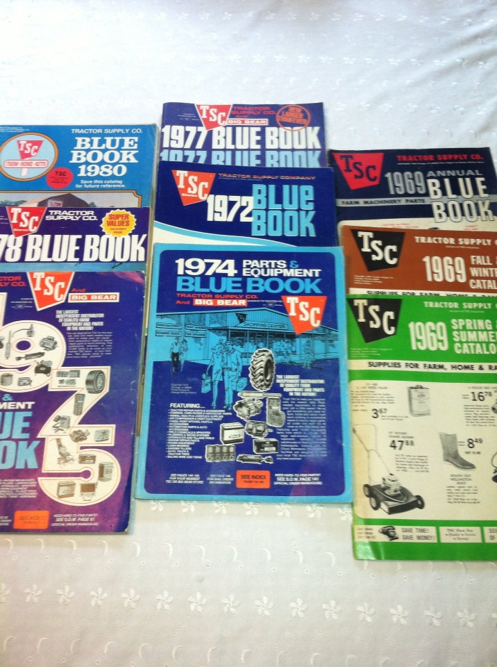 Tsc Tractor Supply Catalog : Vintage tractor supply company catalog bulk package of some