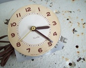 Vintage Westclox clock motor and face working conditon 1949 to 1954 assemblage art art supply