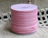 Cotton Cord PINK Waxed 0.5mm 25-meter  - Many Colors