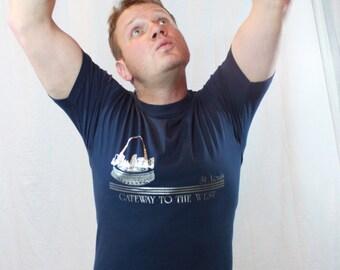 SALE ITEM Vintage St Louis Blue Tee shirt