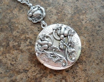 Baby Birds Filigree Locket Exclusively by Enchanted Lockets