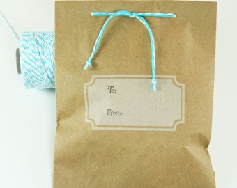 Kraft Paper Bags-Polka Dot Middy Bitty Bags-Set of 10-5 x 7.5 Bags-Favor Bags-Treat Bags