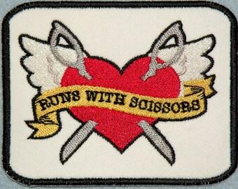 Runs with Scissors Iron on Patch