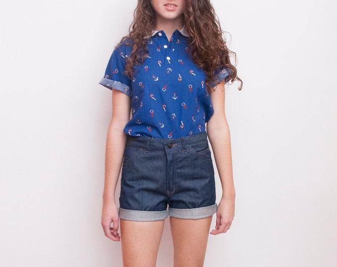 70s Dead stock Vintage Denim cut off Shorts Size S