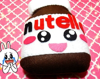Kawaii Nutella plush doll plushie Happy version