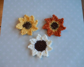 Sunflower Embellishments Set of Three