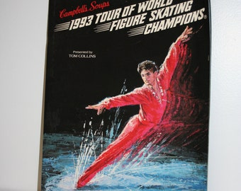 1993 Campbells Soup Tour of World Figure Skating Champions Book