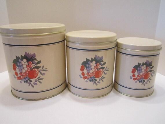Hallmark Kitchen Canisters Made by Ballanoff Columbiana Ohio USA - 1990