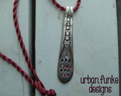 Spoon Necklace I And Love And You Upcycled Spoon Handle Necklace Pendant